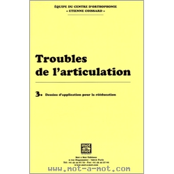Troubles de l'articulation n°3 - Dessins d'application pour la rééducation 1