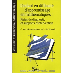 L'enfant en difficulté d'apprentissage en mathématiques : Pistes de diagnostic et supports d'intervention