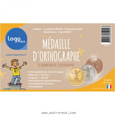 Médaille d'orthographe 1