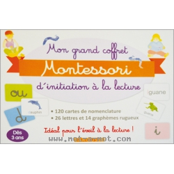 Mon grand coffret Montessori d'initiation à la lecture 1