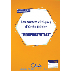 Les carnets cliniques d'Ortho Edition - Morphosyntaxe